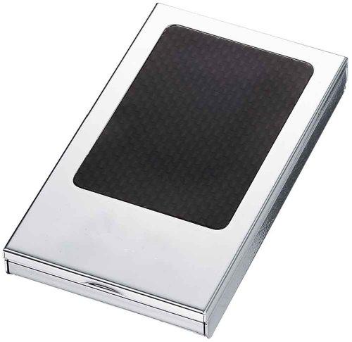 (Visol Devlin Carbon Fiber Silver Plated Cigarette Case and Holds 8-100mm Cigarettes)