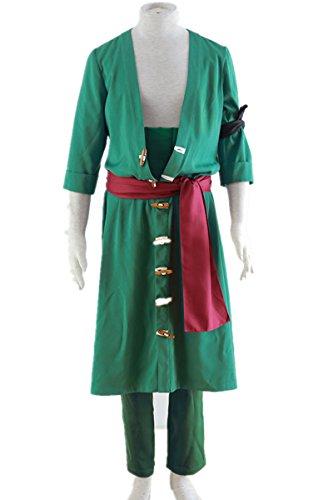 Zoro Cosplay Costume (Love Japanese Anime OP Jump Uniform Cosplay Costume 5Pcs Set)