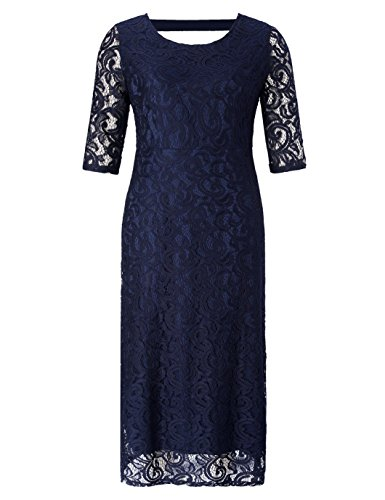 Chicwe Womens Plus Size Stretch Lace Maxi Dress - Evening Wedding Cocktail Party Dress