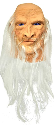 Merlin Medieval Sorcerer Wizard Latex Adult Halloween Costume Mask (Alien Princess Costume)