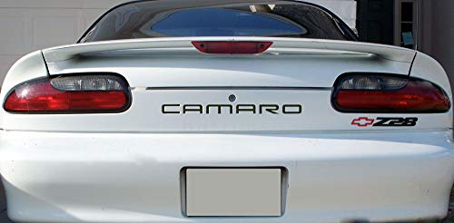 BDTrims Front and Rear Bumper Plastic Letters Inserts fits 1992-2002 Camaro Models (Matte Black)