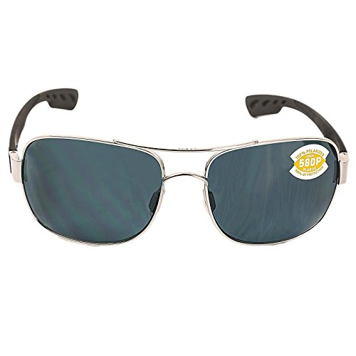 Costa Del Mar Cocos Polarized Sunglass, Palladium, Gray - Del Mar Nose Pads Costa