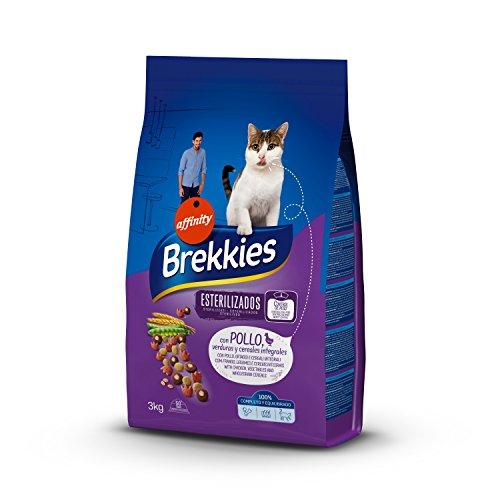 Brekkies Pienso para Gatos Gatos Esterilizados con Pollo y Verduras – 3000 gr