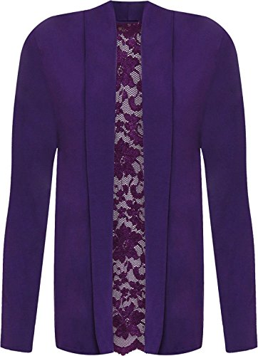 Purple Cardigan With Donna Style Riddled UOvqHwzq