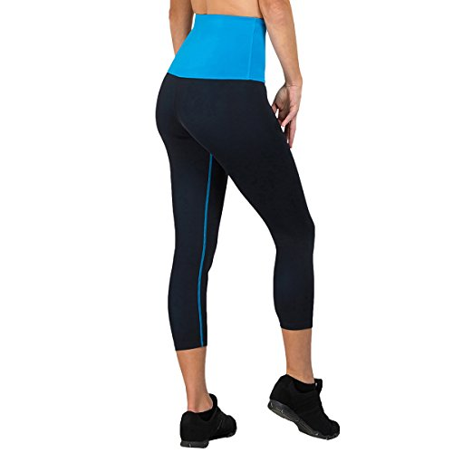 ca031c48bf Delfin Spa Women s Mineral Infused High Waist Exercise Capris - Petite thru  Plus