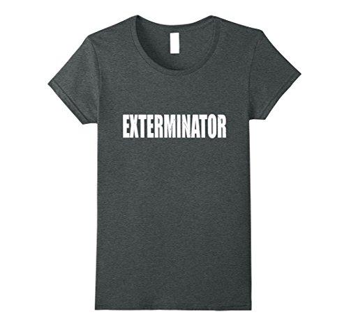 Exterminator Costumes - Womens Exterminator T Shirt Halloween Costume Funny Cute Distressed Medium Dark Heather