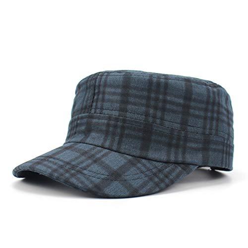 (Women Army Cap Military Plaid Flat Top Student Newsboy Hat Fedora uede Army Hat Vintage Cadet Bone,C)