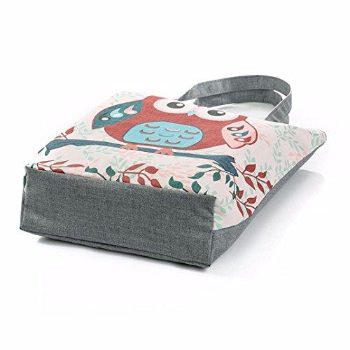 ZARU Leinwand-Taschen-beiläufige Strand-Beutel-Frauen-Einkaufstasche B