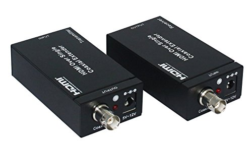 Eazy2hD HDMI Extenders Over Single RG6 Coaxial Cable up to 100m/328ft Support IR Remote Control - US Plug by Eazy2hD