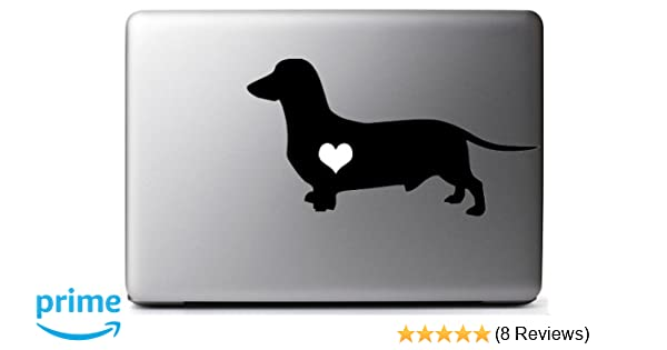 Vinyl Decal//Sticker Cute Sausage Dog Silouette Wall//Laptop//Car Free Post