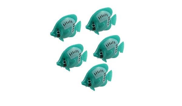 Amazon.com: eDealMax DE 5 piezas del ornamento del acuario Giro de voladizo Pez Tropical, Verde: Pet Supplies
