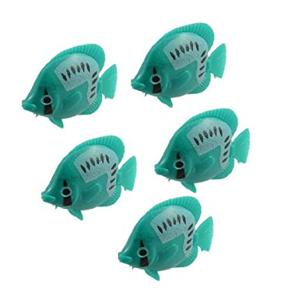 Amazon.com: eDealMax DE 5 piezas del ornamento del acuario Giro de voladizo Pez Tropical, Verde: Pet Supplies