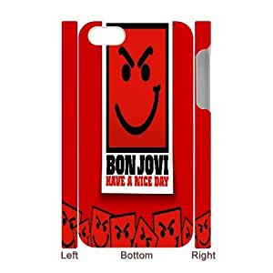 Diy Bon Jovi 3D Phone Case, DIY Hard Back Cover Case for iPhone 4/4G/4S Bon Jovi