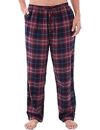 Mens Flannel Pajama Pants, Long Cotton Pj Bottoms