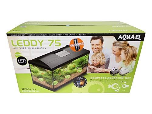 Aquael Leddy Black Tropical Aquarium Set, 105 L