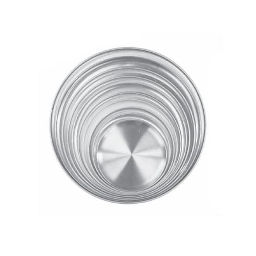 Thunder Group Aluminum Coupe Style Pizza Tray 15 (12 per Case) [ALPTCS015] (Coupe Style Pizza Tray)