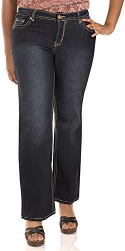 WallFlower Women's Plus Size Basic Legendary Stretch Bootcut Denim Jeans