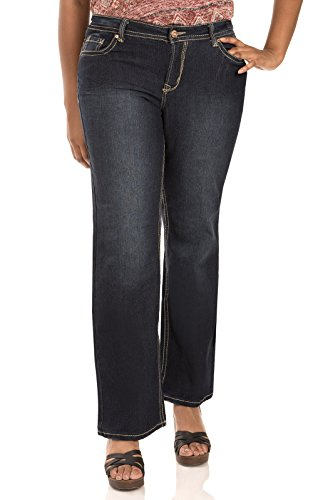 WallFlower Plus Size Basic Legendary Bootcut Jeans in Scarlet Size: 20