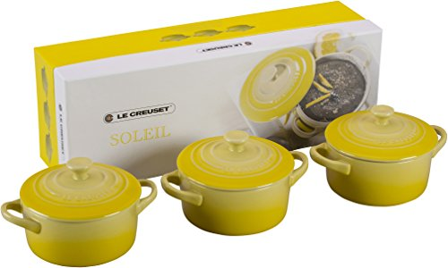 Le Creuset Stoneware Petite Round Casserole Gift Set, Soleil