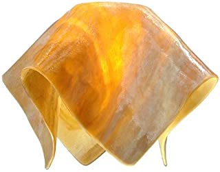 """product image for Jezebel Signature Large Flame Honeysuckle Glass Pendant Replacement Glass Shade, 1 5/8"""" hole"""