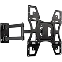 Easeurlife TV Wall Mount Bracket Full Motion Articulating Swivel & Tilt for Most 22-55 LED LCD Plasma Flat Screen Monitor Up to 88lbs Weight Capacity and VESA 400 x 400mm, Black