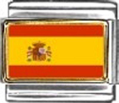 Spain Photo Flag Italian Charm Bracelet Jewelry Link