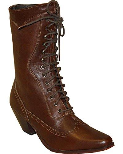 Abilene Womens Rawhide Di 8 Vittoriano Lace Up Boot Snip Toe Brown 6.5 M