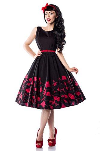 Schwarz ROCKABILLY schwarz rot Jahre Abendkleid STYLE 50er Rot agdqqwHY