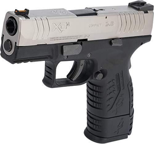 Evike Springfield Armory Licensed XDM .177 Cal CO2 Blowback Airgun Pistol (Model: 3.8 Compact / 2-Tone Silver-Black)