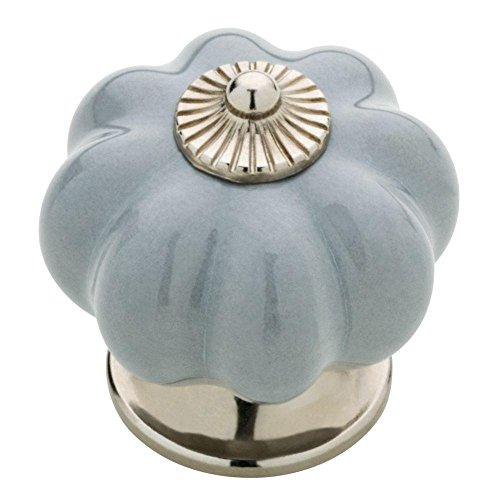 Ceramic Pumpkin Cabinet Knob (Gray) (Knobs Ceramic Liberty)