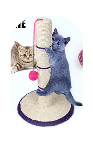 (45cm Natural Sisal Cat Scratch Board Cat Claw Grinding Board Pet Climbing Scratching Post,Blue)