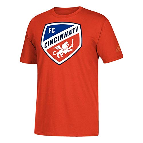 adidas FC Cincinnati Men's Orange Squad Primary Logo T-Shirt Medium