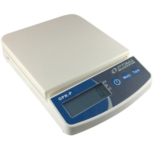 Optima Scales OPK-P250 Compact Digital Precision Scale Balance, 250g x 0.1g, Plastic - Optima Electronic