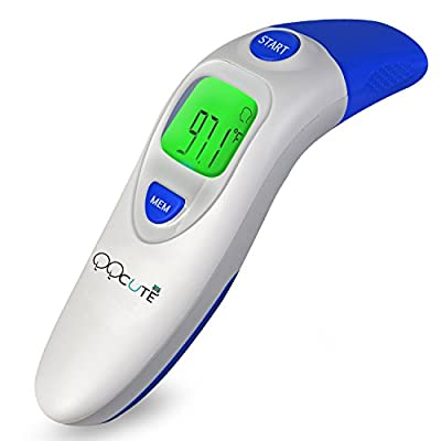 QQCute Digital Medical Infrared Forehead and Ear Thermometer