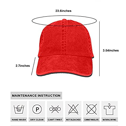 SHUANGRENDE Unisex Denim Dad Hat Adjustable Plain Cap Cartoon Style Low Profile Gift for Men Women
