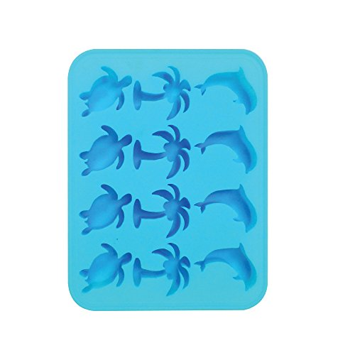 Mold Chocolate Sea Turtle - Silicone Ice Cube Trays - Tropical Shaped Ice Cube Tray Molds Candy Mold Cake Mold Chocolate Mold (1, Blue)