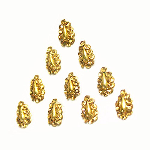 Body Jewels Bindi Crystals in Golden Tear Drop - Fancy Designer Bindis - head decorations for women