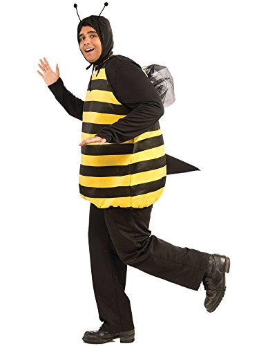 Forum Novelties Adult Plus Size Bumble Bee Costume White ()