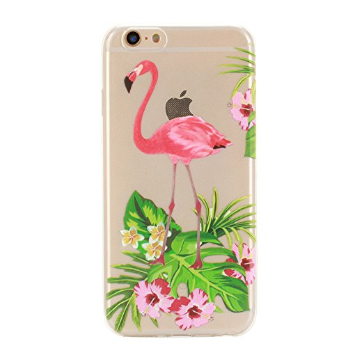 iPhone 6 Case, iphone 6s case, GreenDimension [Dust-proof] Flamingo Pattern Crystal Clear Premium Flexible Anti Slip Soft TPU Transparent Gel Rubber Protective Bumper Premium Silicone Back Cover Shell