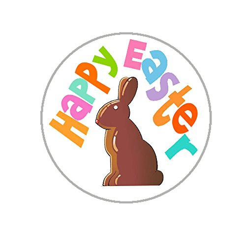 "Easter Envelope Seals - 1.2"" Easter Stickers - 144 Fun Holiday Stickers (Chocolat Happy Easter)"