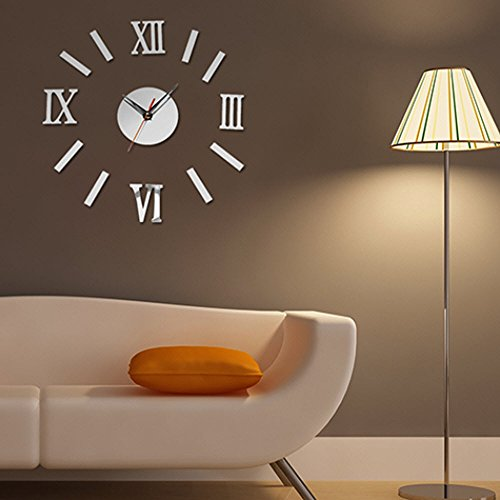 3D Luxury DIY Clock Decoration Mirror Stickers Wall Art Fashion Home Decoration