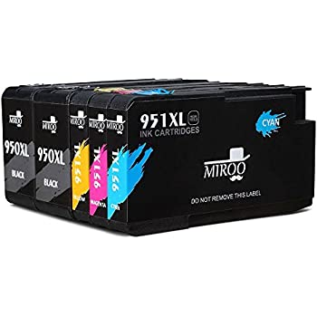 MIROO 5 Pack Compatible Ink Cartridge Replacement For HP 950XL 951XL Worked With Officejet