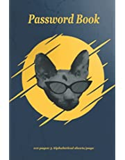 """Password Book: Password Journal Alphabetical and Logbook To Protect Usernames and Passwords- Never forget the password again - Book Small 6"""" x 9"""""""