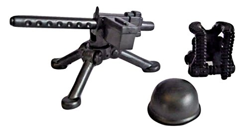BrickArms US Gunner Pack for WWII Minifigures -M1919, Vest, - Ww2 Guns Machine