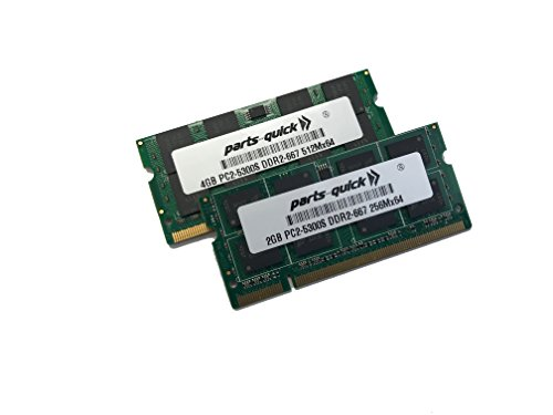 - 6GB Kit (4GB + 2GB) Memory for Apple MacBook Pro iMac 2007 2008 PC2-5300 667MHz DDR2 SODIMM (PARTS-QUICK BRAND)