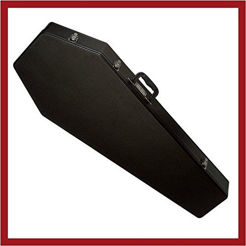 - Coffin Case Guitar Case Black Red