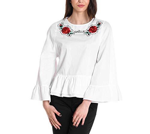 Cotone Blusa Gaelle Bianco Donna Paris Gbd2248variante 6I4xz1waq