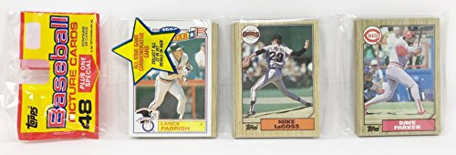 1986 Unopened 48 Count Baseball Rack Pack + 1 All Star Commemorative Card - Lance Parrish Detroit Tigers (49 Total Cards)