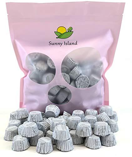 Sunny Island Bulk - Reese's Miniatures Peanut Butter Cup Milk Chocolate Candy White Foil Wrap, 2 Pounds Bag - Foil Wrapped Peanut
