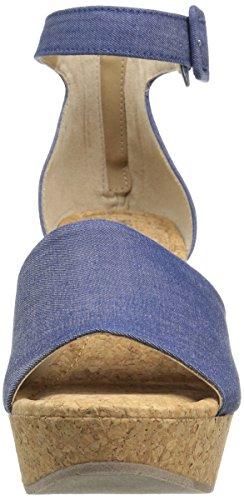 Sole Blue Wedge Women's Reaction Sandal Quest Kenneth Cole qw0ZFxqt
